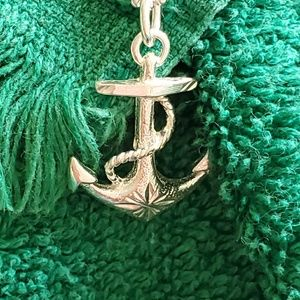 Jewelry - Anchor cross pendant necklace 925 sterling silver